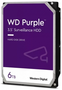 "Твърд диск Western Digital 6 TB, PURPLE серия, 3.5"", 64 MB cache, S-ATA3"