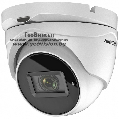 HD-TVI/AHD/CVI/CVBS камера HIKVISION DS-2CE79H8T-IT3ZF: 5 мегапиксела 2560x1944 px, моторизиран варифокален обектив 2.7-13.5 mm, Ultra Low Light
