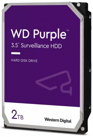 "Твърд диск Western Digital 2 TB, PURPLE серия, 3.5"", 64 MB cache, S-ATA3"