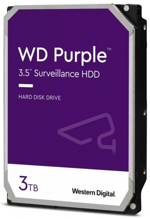 "Твърд диск Western Digital 3 TB, WD30PURZ PURPLE серия, 3.5"", 5400 rpm, 64 MB кеш, S-ATA3"