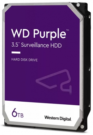 "Твърд диск Western Digital 6 TB, WD60PURZ PURPLE серия, 3.5"", 5400 rpm, 64 MB кеш, S-ATA3"