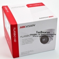 HD-TVI/AHD/CVI/CVBS куполна камера HIKVISION DS-2CE78H8T-IT3F: 5 мегапиксела 2560x1944 px, Обектив: фиксиран 2.8 mm, Ultra Low Light